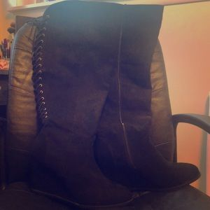 Torrid wedged boots